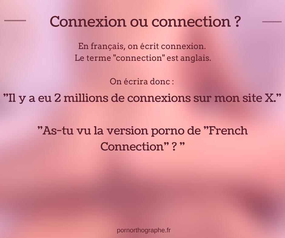 connexion ou connection