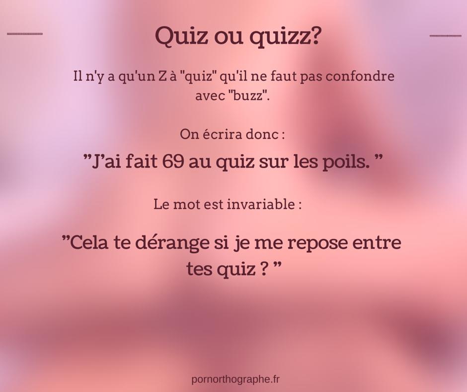 quiz ou quizz