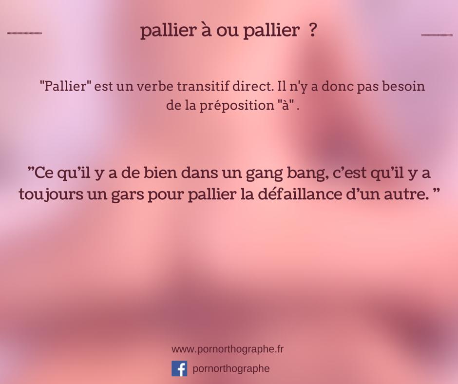 palier ou pallier