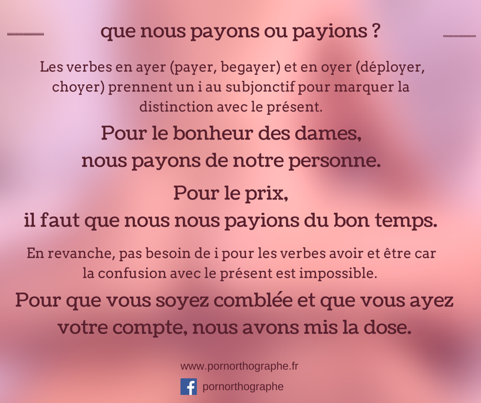 payons ou payions