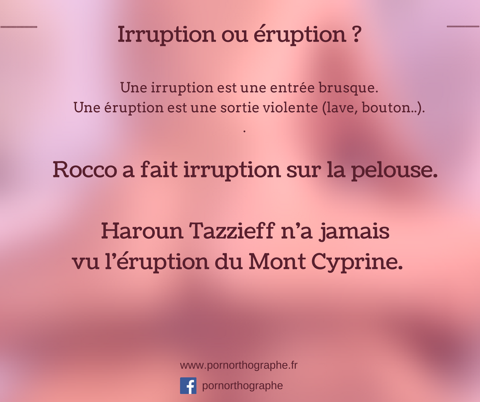 irruptioneruption
