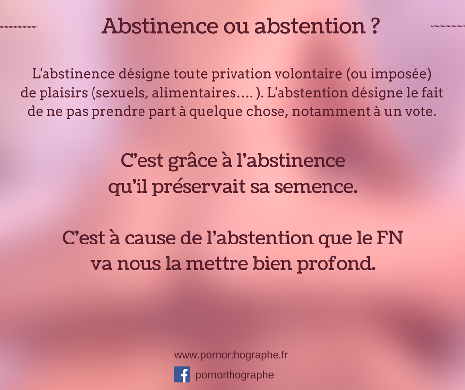 abstinenceabstention