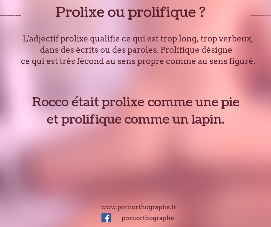 prolixeouprolifique
