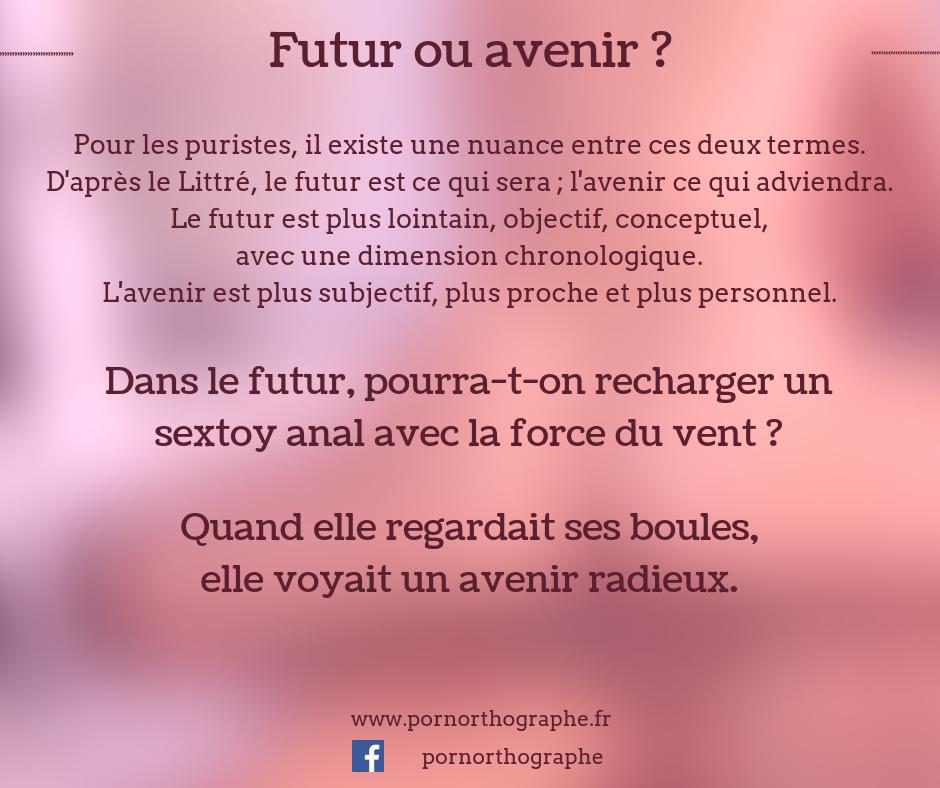 avenir ou futur