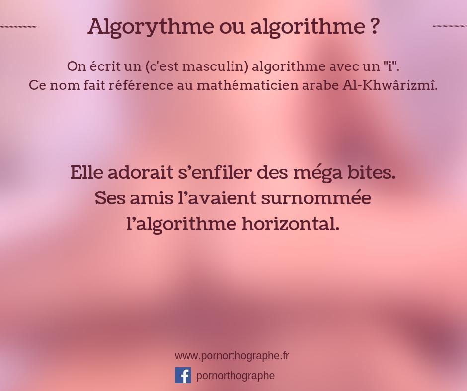 algorithme ou allgorythme